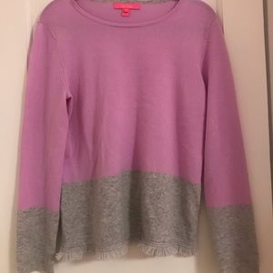 Lilly Pulitzer Two Tone Cashmere Sweater